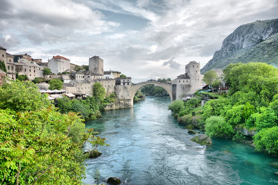 Bosnia And Herzegovina, Herzegovina, Mostar, Old Bridge