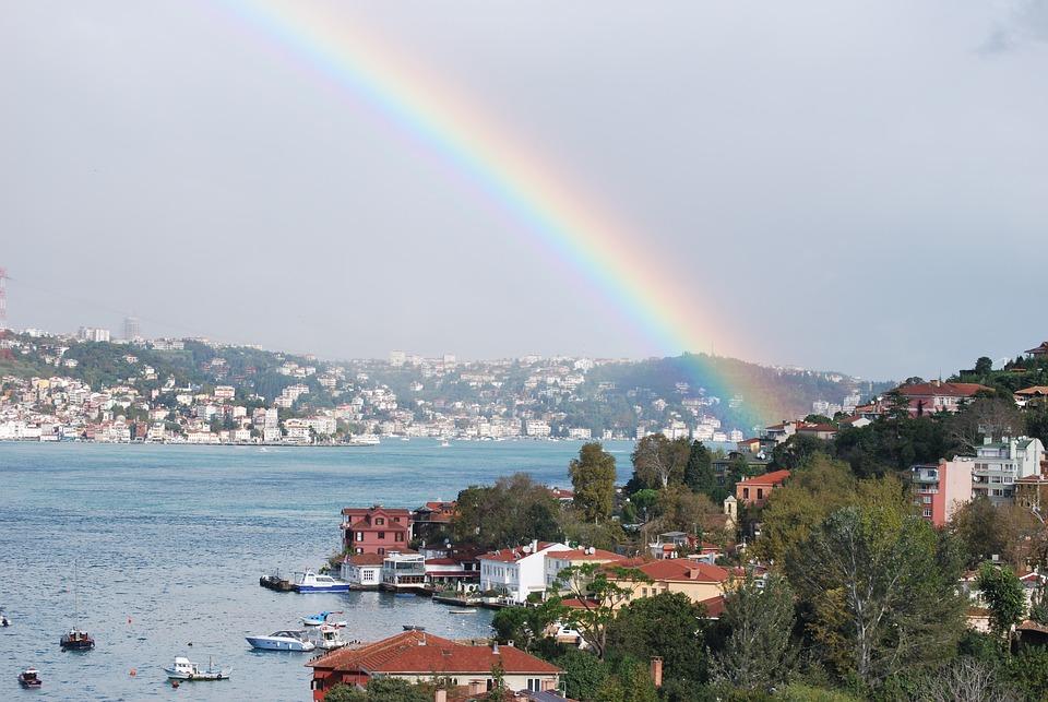 Turkey, Istanbul, Bosphorus, Rainbow, çengelköy