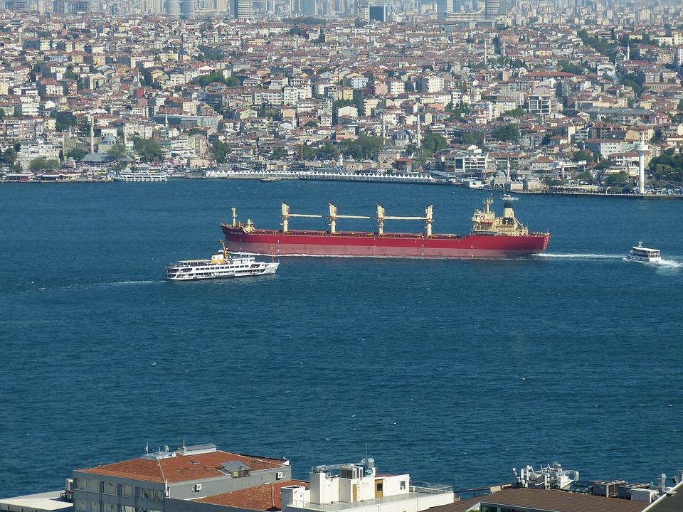 Bosphorus, Istanbul, Turkey, Outlook, View, Ship