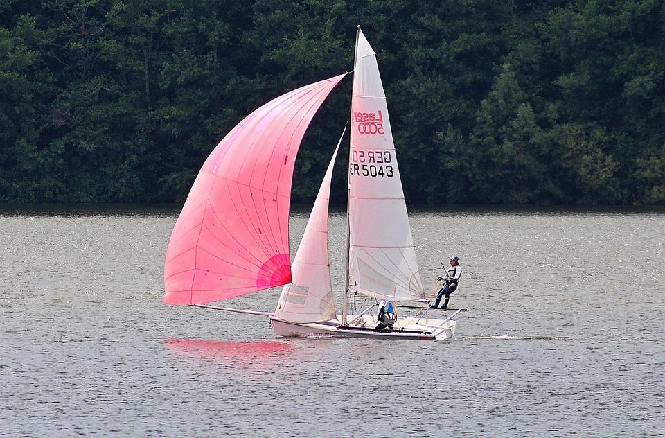 Sailing Boat, Water, Bostalsee, Boot, Sailing Mast