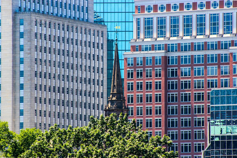 Building, Church, Architecture, New And Old, Boston