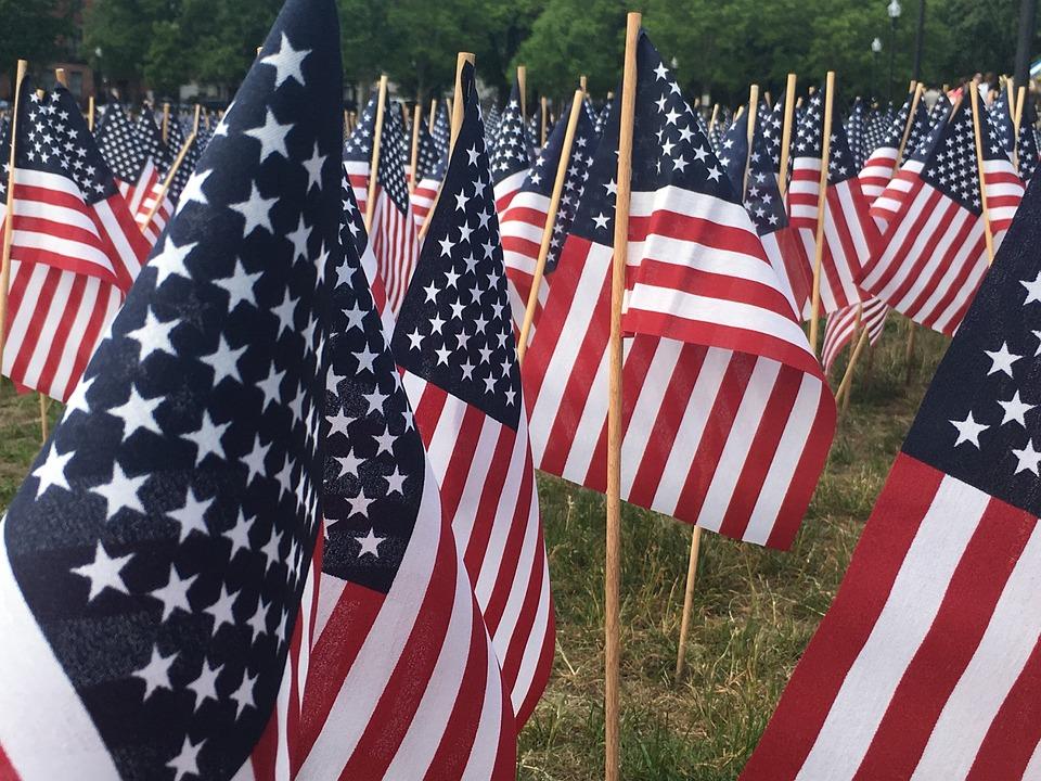 Flag, Usa, Memorial Day, Boston, Memorial, America