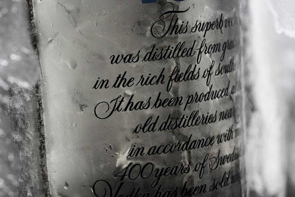 Bottle, Alcohol, Vodka, Drop, Background, Restaurant