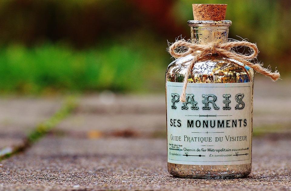 Bottle, Paris, Cork, Glass, Glass Bottle, Bottleneck
