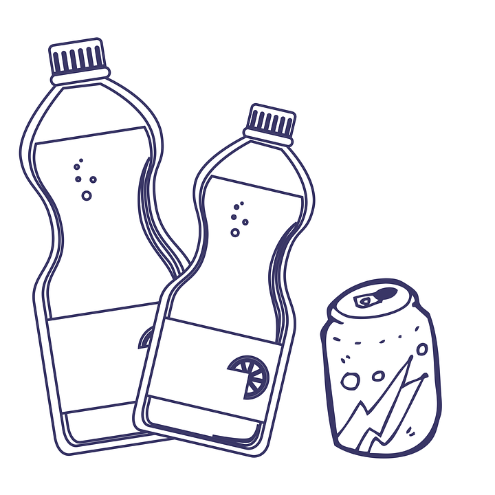 Water, Drinks, Gas, Bottle, Can