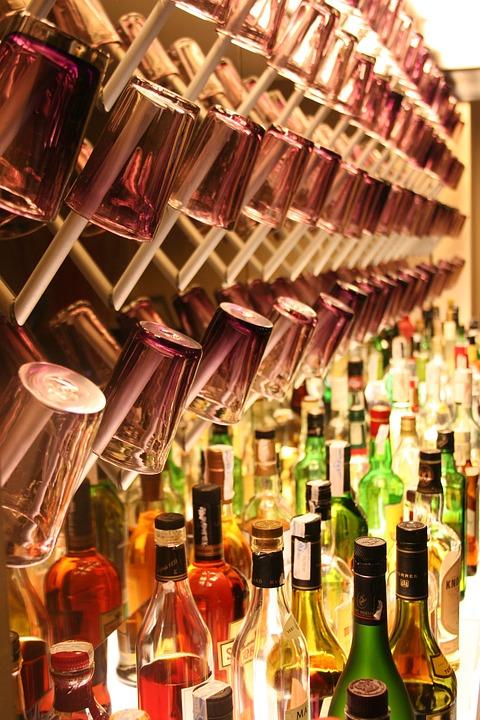 Cocktail Bar, Drinks, Alcohol, Shots, Glasses, Bottles