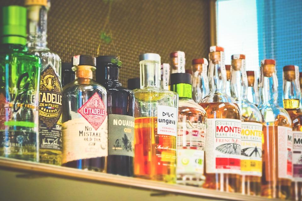 Bottles, Alcohol, Drink, Beverages, Glass, Bar