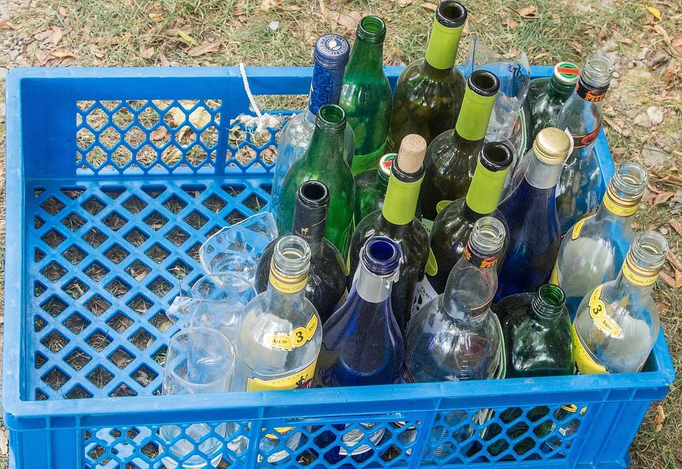 Bottles, Glasses, Glass, Transparent, Drink, Empty