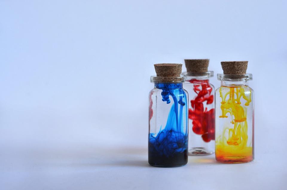 Bottles, Potions, Ink, Dye, Magic, Bottle, Colour