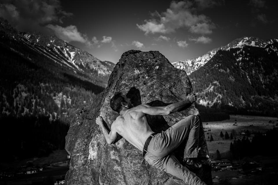 Bouldering, Climb, Sport, Stone, Nature, Boulder