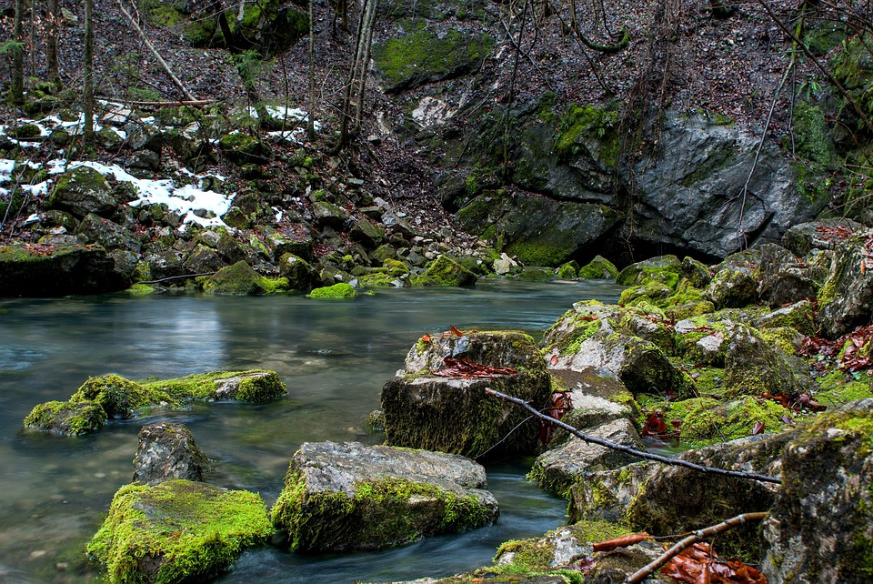 Stream, Creek, Water, Rocks, Boulders, Rocky, Seasons