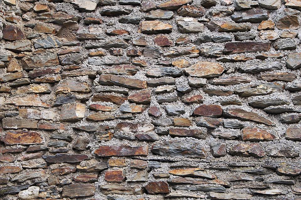 Wall, Stone Wall, Boulders