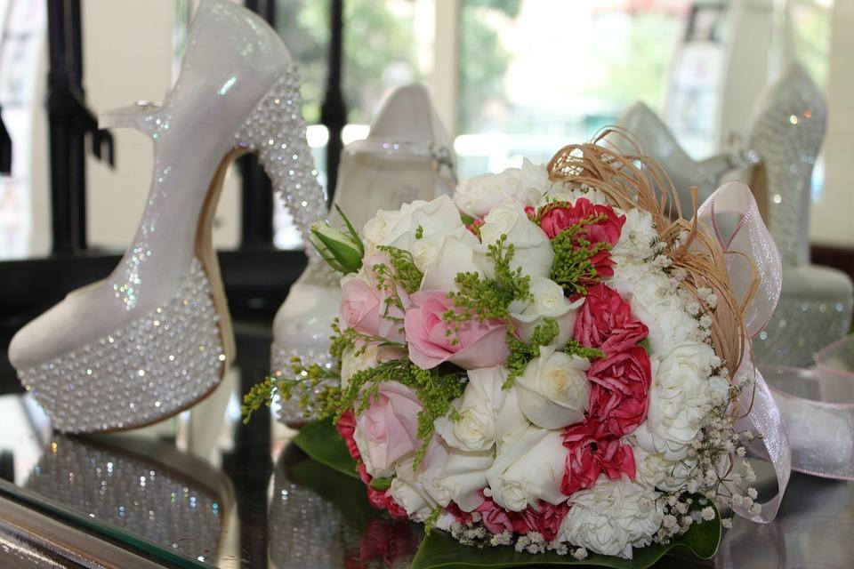 Bridal, Bride's Bouquet, Bride Shoes, Flower, Bouquet