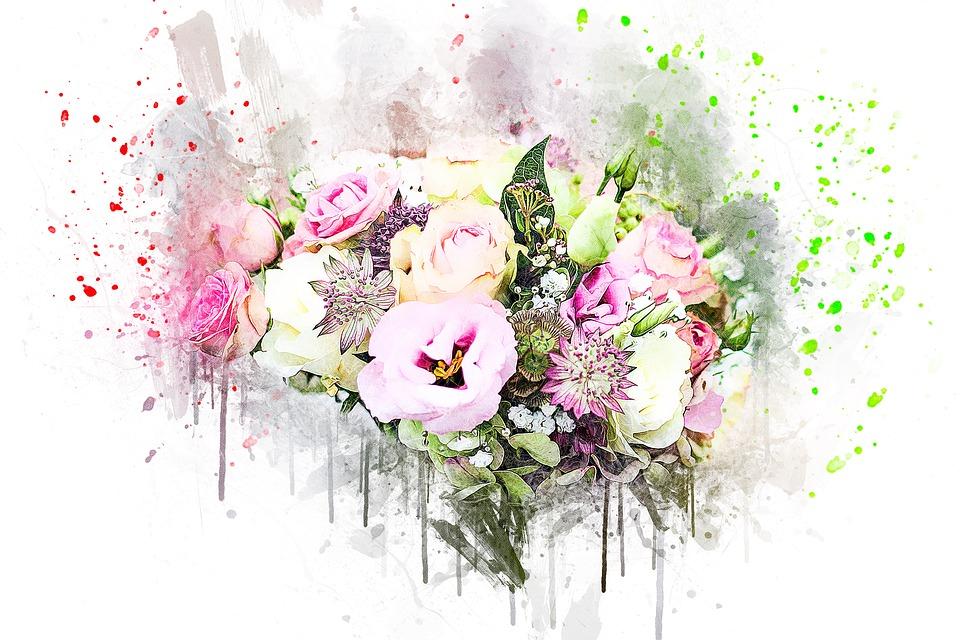 Flowers, Bouquet, Art, Abstract, Nature, Wedding