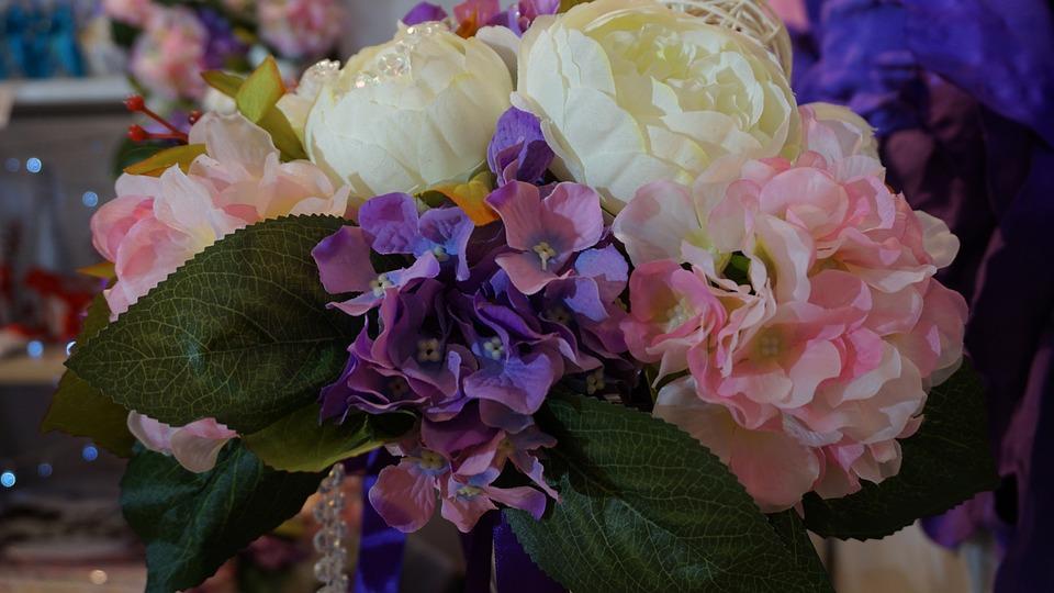 Wedding, Flowers, Bouquet, White, Wedding Flowers