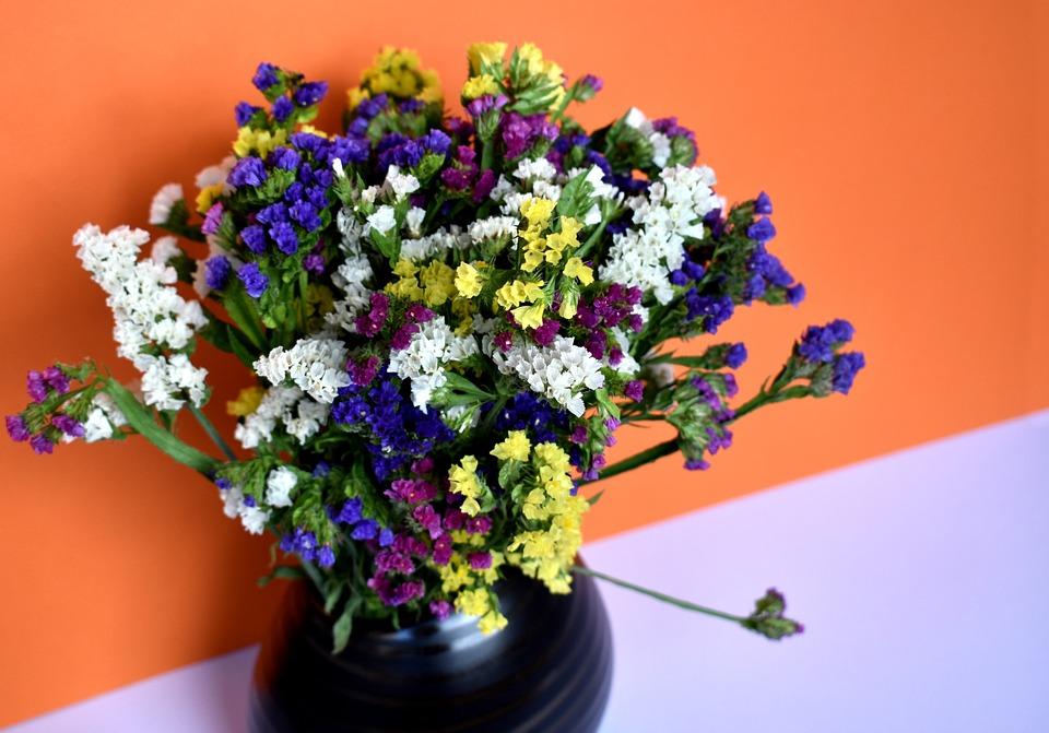 Still-life, Still Life, Limonium, Flowers, Bouquet
