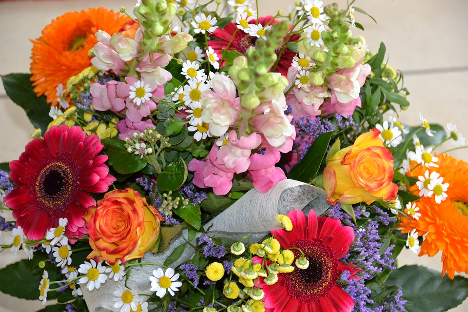 Flowers, Strauss, Loewenmaeulchen, Colorful, Bouquet