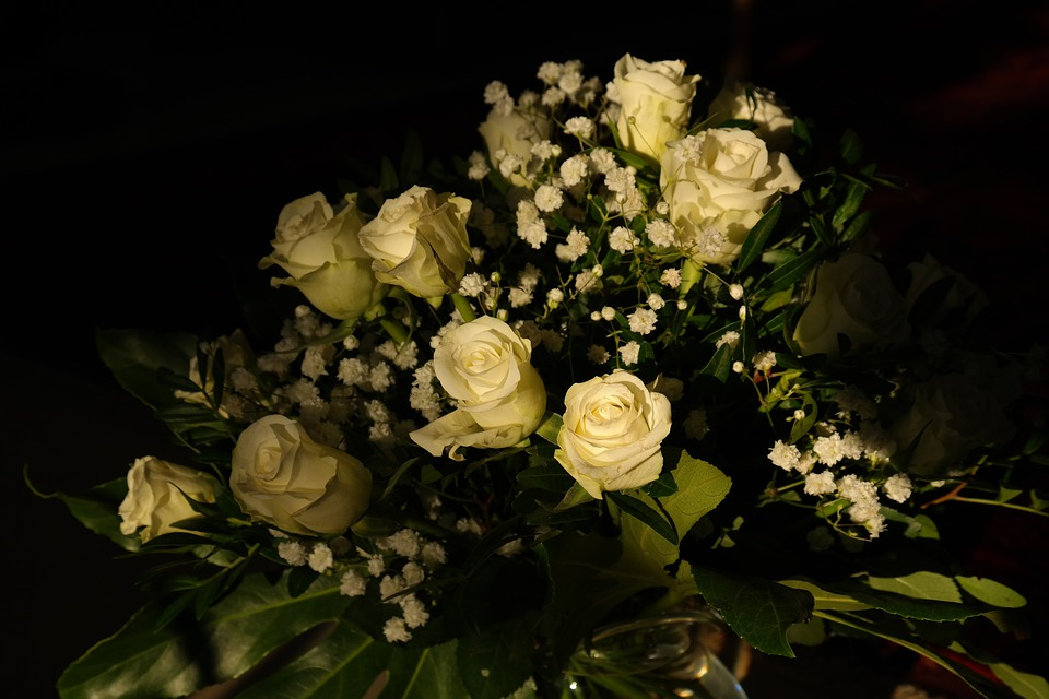 Roses, White, Flowers, Bouquet, Bouquet Of Roses