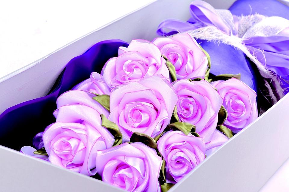 Free photo Bouquet Ribbon Rose Webbing - Max Pixel