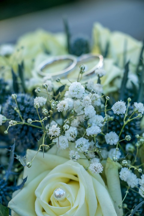 Bouquet, Rings, Wedding, Love, Before, Marry, Marriage