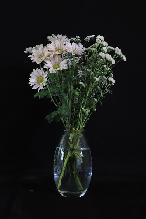 Flowers, Vase, Bouquet, Still Life, Romantic