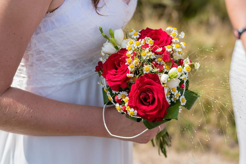 Wedding, Bouquet, Bride