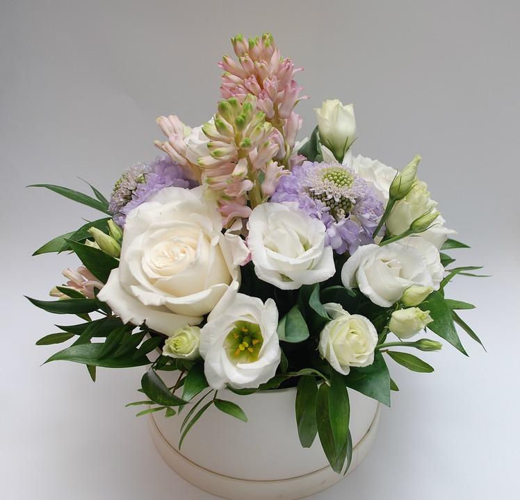 Bouquet, White, Roses, Elegant, Celebration, Rose
