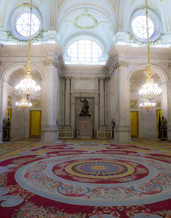 Palace, Room, Museum, Architecture, Madrid, Bourbon