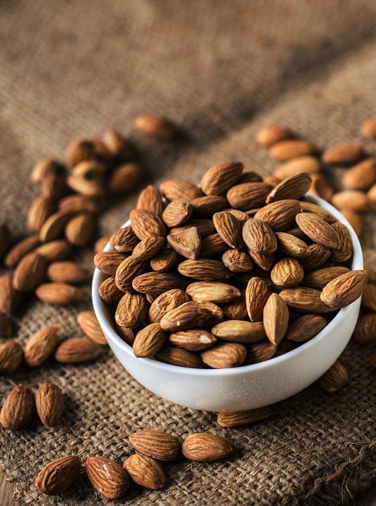 Almond, Bowl, Brown, Burlap, Closeup, Edible, Food