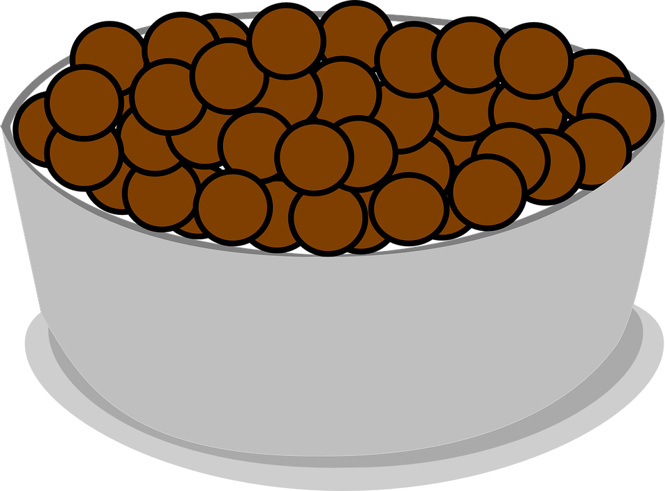 Cereal, Bowl, Spoon, Cocoa, Puffs