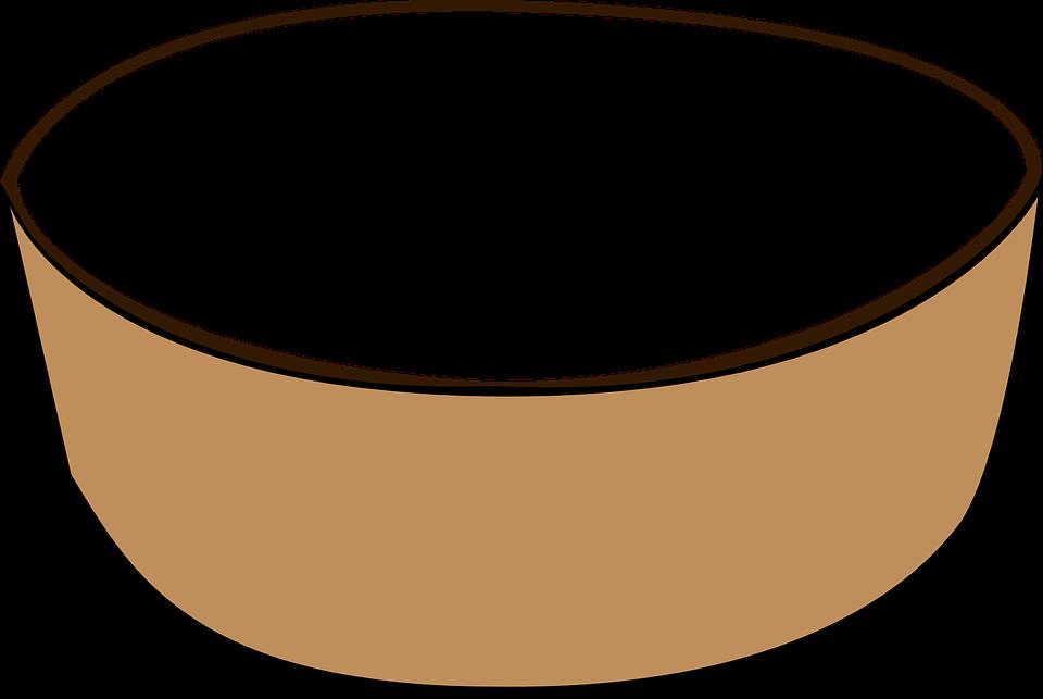 Bowl, Dish, Grey, Brown, Empty, Plain