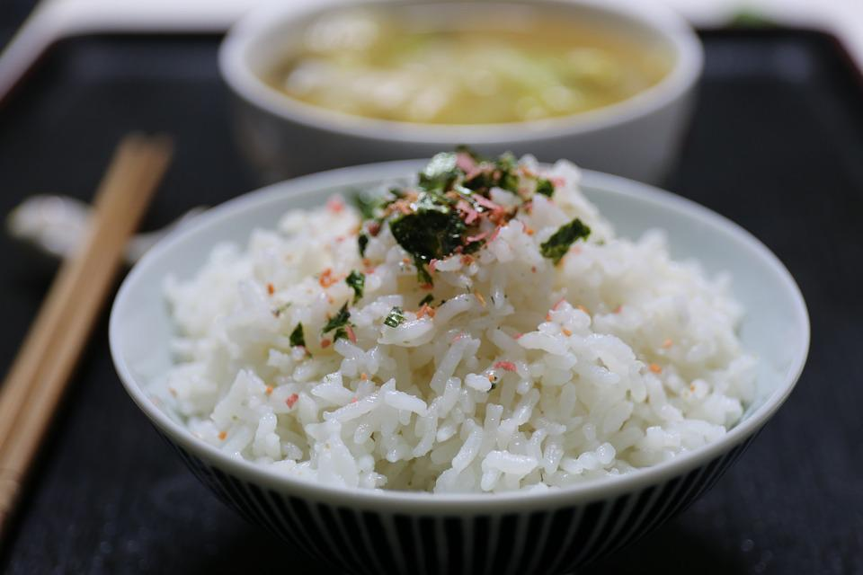 Rice, Japan Cuisine, Bowl, Chopsticks