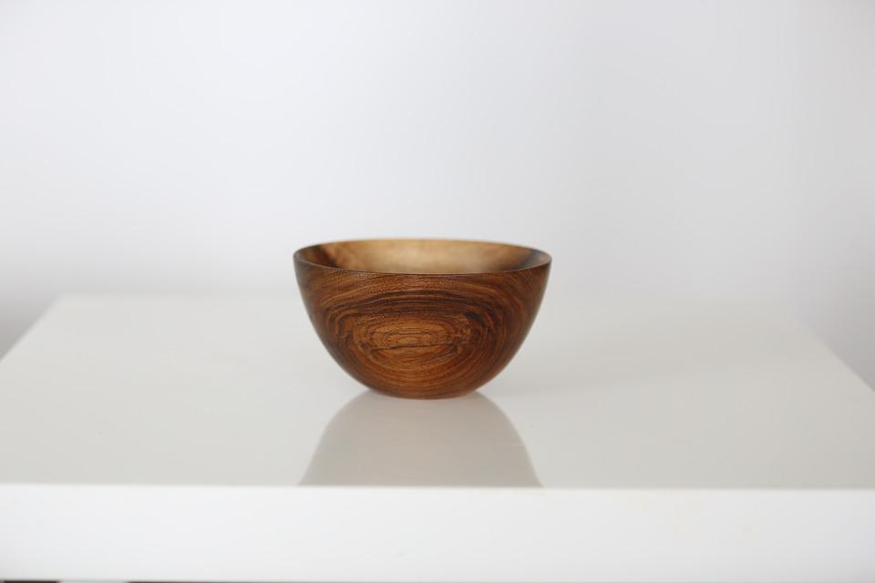 Bowl, Kitchen, Table, Kitchen Table, Wooden, Natural