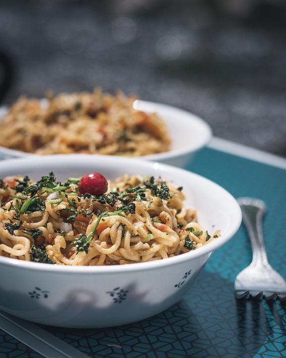 Noodles, Pasta, Bowl, Fork, Bowl Of Noodles