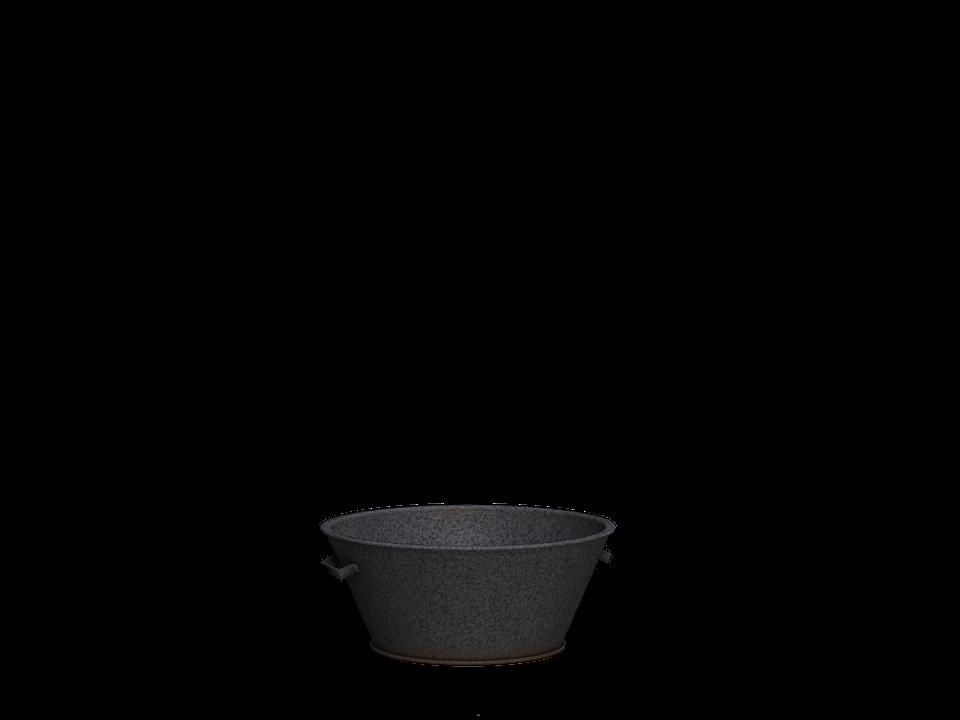 Bowl, Sheet Metal Bowl, Tub, Old, Digital Art, Isolated