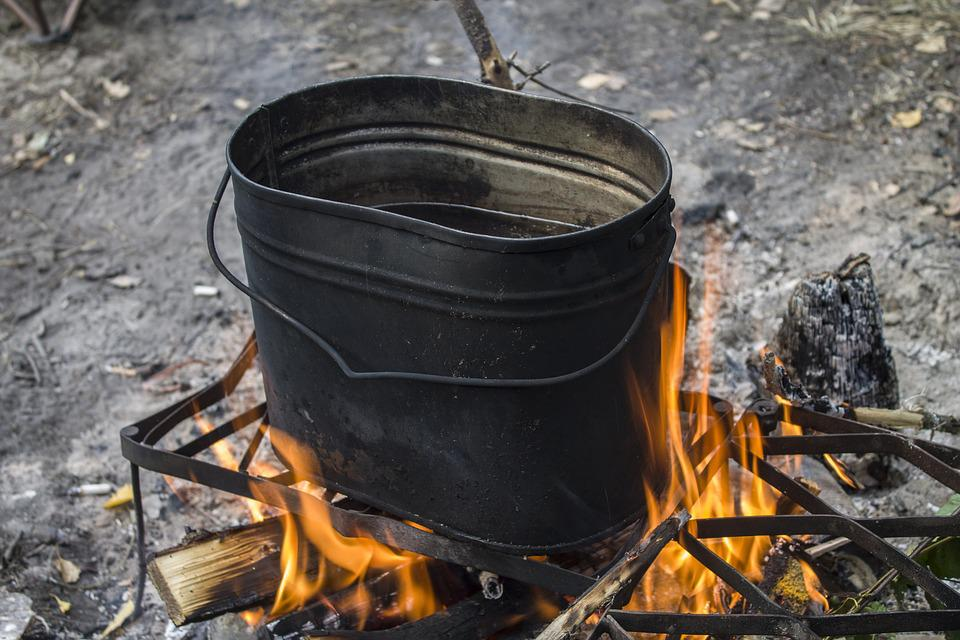 Bowler, Kan, Lunch, Camping, Bonfire