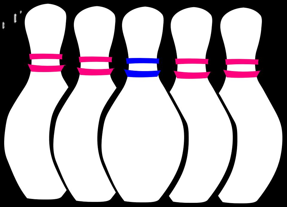 Bowling Pins, Set, Bowling, Sport, Game, Pin