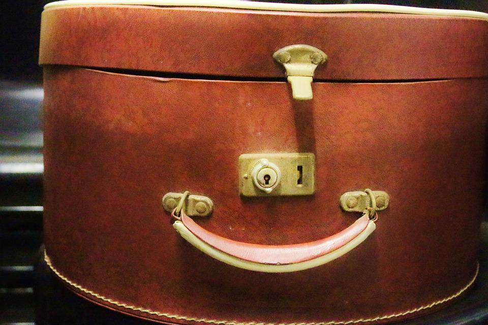 Hatbox, Box, Handle, Luggage, Castle, Leather