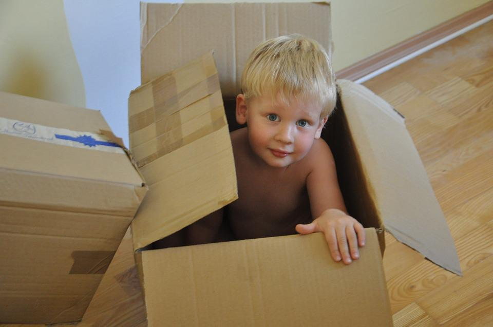 Child, Boy, Game, Package, Box, Kid, Gift, Moving To