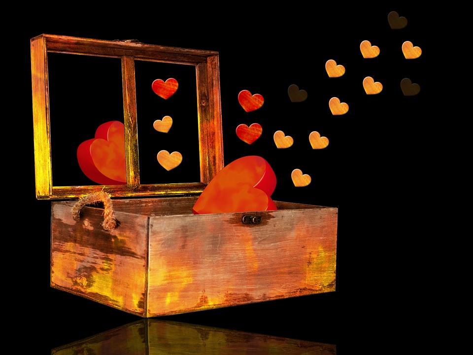 Background, Hearts, Box, Box Of Hearts, Heart