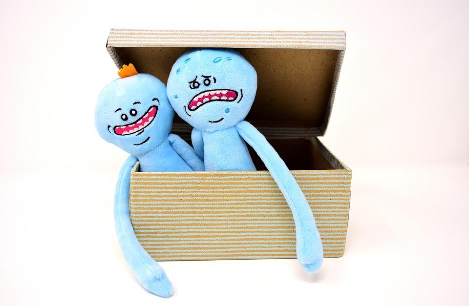 Teddy Bear, Soft Toy, Cardboard, Box, Plush