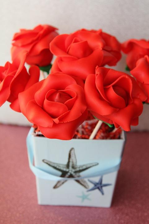 Free photo Boxed Cake Pops Bouquet Dessert Gourmet Roses - Max Pixel