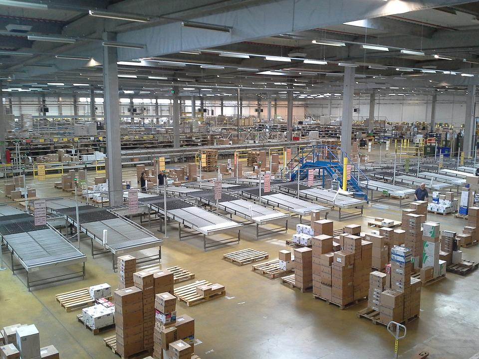 Factory, Warehouse, Boxes, Capitalism, Mass Consumption