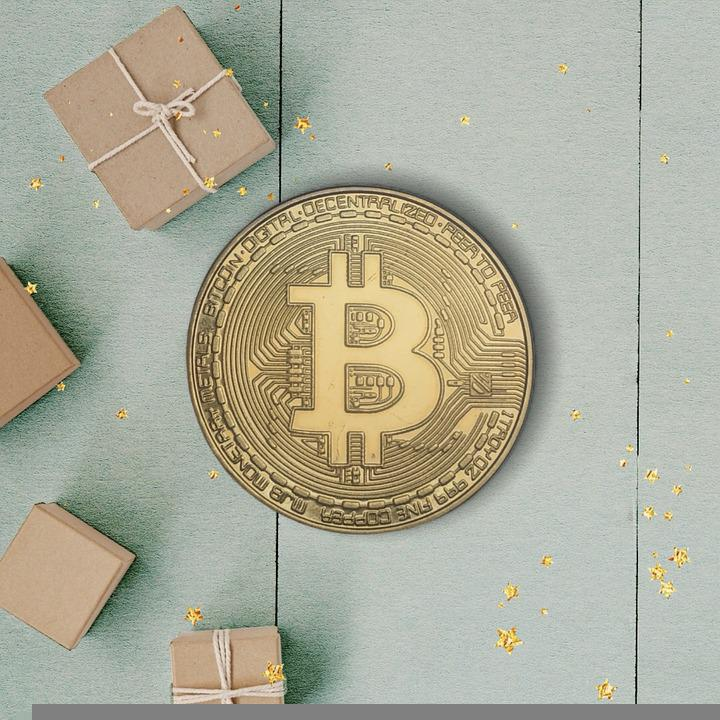Bitcoin, Coin, Packages, Boxes, Money, Sparkling