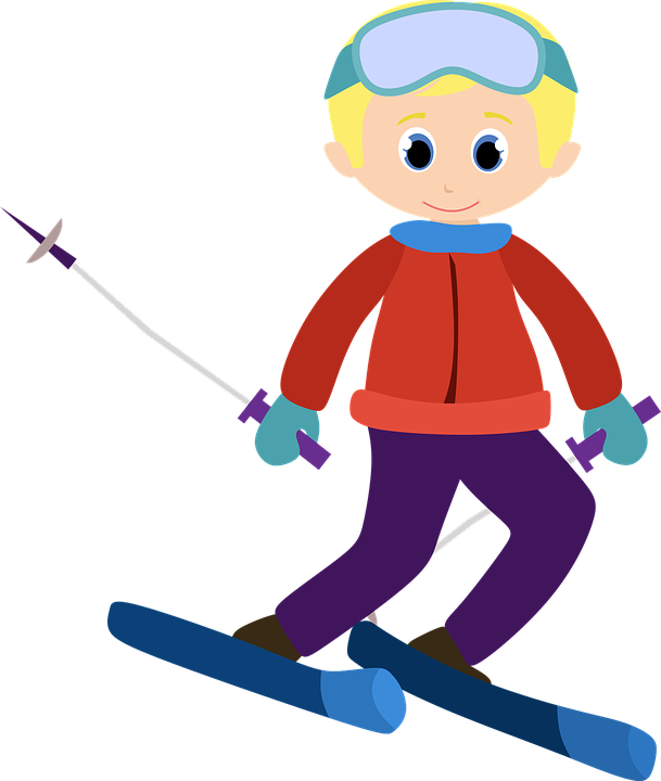 Alpine, Ski, Clipart, Vector, Boy, Children