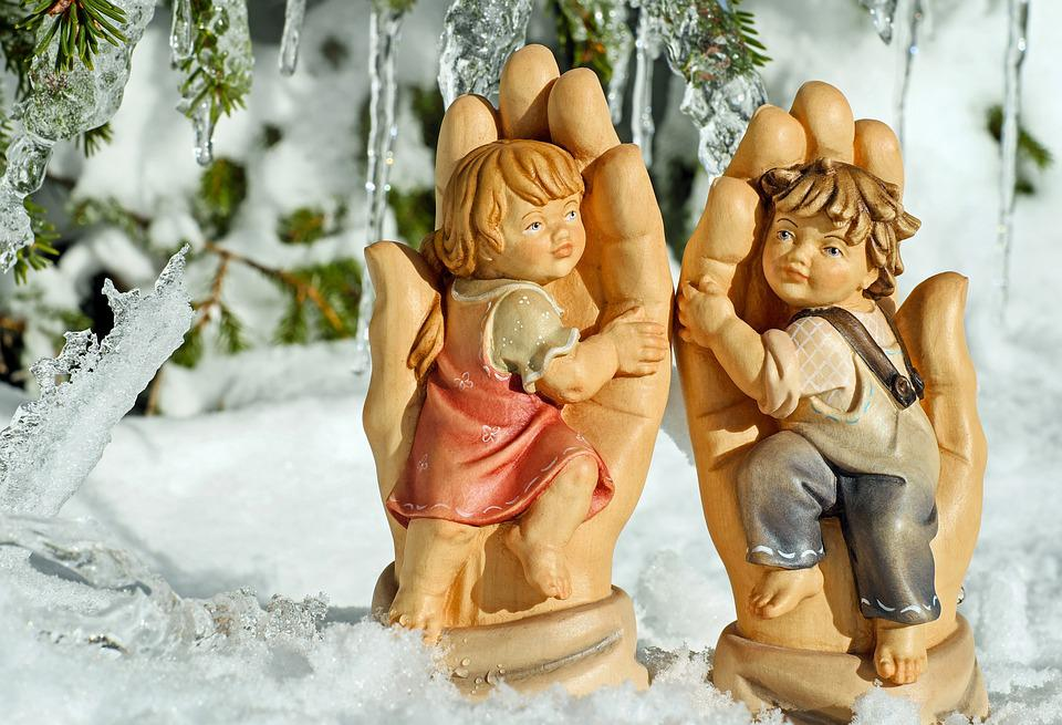 Girl, Boy, Figures, Wooden Figures, Children, Recovered