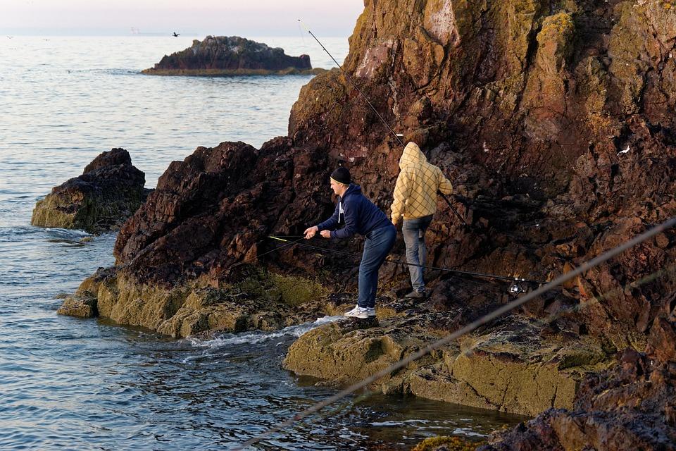 Fishing, Fishermen, Anglers, Boy, Man, Fishing Rods