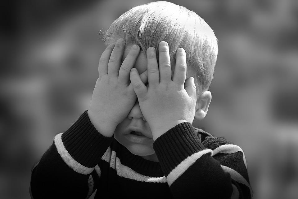 Boy, Portrait, Child, Hands, Hide, Hiding, Playing