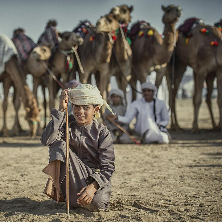 People, Boy, Camels, Child, Portrait, Young, Happy