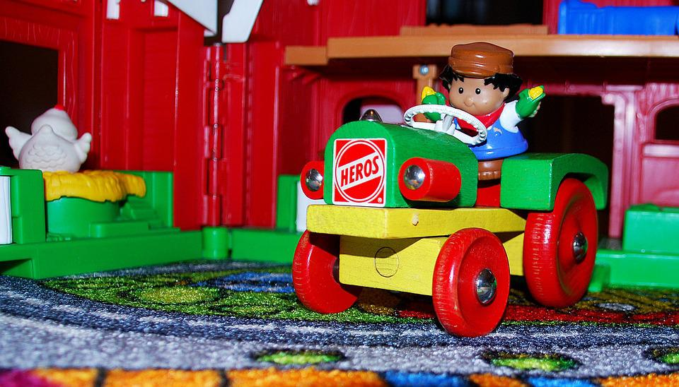 Toys, Tractor, Plastic, Farm, Kid, Boy, Play, Fun